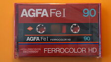 1x AGFA Fe I 90 FERROCOLOR HD Cassette Tape 1982 + NEW & SEALED +