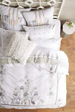 Anthropologie Footpath Queen Duvet Cover with 2 Standard Shams