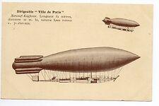 AVIATION Aérostation ballon dirigeable LA VILLE DE PARIS Surcouf Kapferer