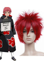 New Fashion Elements of style Red Straight Short  Sasori Cosplay Wig