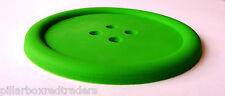 Botón Grande Silicona Coaster * Bebidas Mat * verde * novedad * Buy 3 Get 1 Free!