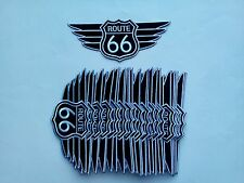 """25 ROUTE 66 with Wing Embroidered Patches 3""""x7"""""""