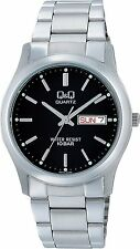 100% Authentic! CITIZEN Q&Q Analog W470-202 Mens Watch Silver Day & Date Japan