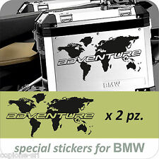 2 Adesivi Planisfero Moto BMW R 1200 1150 1100 gs valigie NEW ADVENTURE