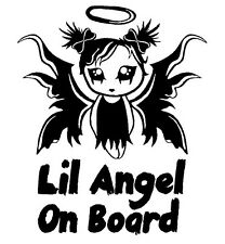 Lil Angel funny baby on board decal sticker girl astra corsa fiesta ka fiat golf