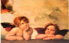 QUADRI MODERNI POSTER  100X140 GLI ANGELI MICHELANGELO BUONARROTI ARTE ARREDO