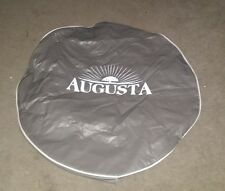 *NEW* AUGUSTA 26'' TIRE COVER GREY WITH WHITE LETTERING RV CAMPER RV MOTORHOME