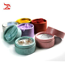 48pcs/lot Ribbon Mixed Color Paper Earrings Storage Ring Packaging Gift Boxes