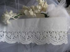 "vtg GLASSINE Paper Doily Lace Border Strip 3"" Wx40"" L 5 pc Crafts Cards Weddings"