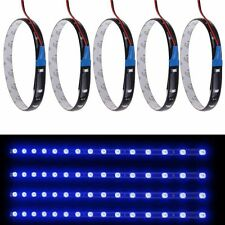 5x Wasserdicht 15 LED 3528 SMD Strip Lichtleiste 30cm DC 12V KFZ Auto Deko  Blau