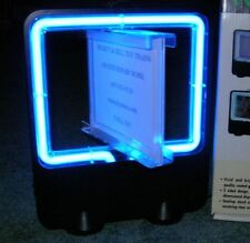 NEW BLUE NEON SIGN FOR SHOW ADS, SHOPS, HOME, STORE PLUS SWIVELS NEW IN BOX
