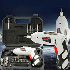 Electric Cordless Rechargeable Drill Project Kit Portable Hand Tools Equipment