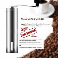 Hand Coffee Grinder Stainless Steel Manual Adjustable Mill Handle Ceramic Burr