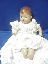 """Vintage UNMARKED 24"""" Composition Doll with Cryer, Sleepy Eyes & TEETH crier box"""