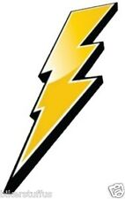 LIGHTNING BOLT (LEFT) HARD HAT STICKER TOOLBOX STICKER YELLOW