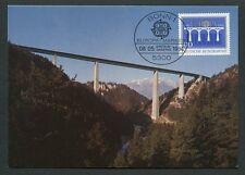 BUND MK 1984 EUROPA CEPT BRIDGE MAXIMUMKARTE CARTE MAXIMUM CARD MC CM d9080