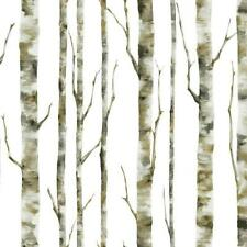 Birch Trees / Tree on Soft White Background York Sure Strip Wallpaper BS5334