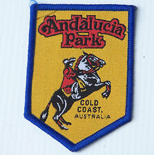 VINTAGE ANDALUCIA PARK GOLD COAST EMBROIDERED SOUVENIR PATCH WOVEN CLOTH BADGE