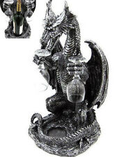 """Ancient Dragon Wine Bottle and Glasses Holder Collection Statue Figurine 20""""H"""