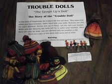 2 x Pouches Worry or Trouble Dolls Brightly Coloured Pouch 6 with Little Dolls