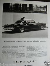 1963 Chrysler Imperial Crown Original Print Ad-8.5 x 10.5""