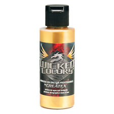 Createx Wicked Colors Gold Airbrush Paint Color 2oz W350 - 2Z