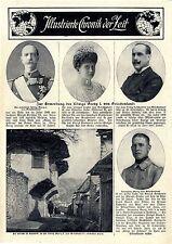 Zur Ermordung des Königs Georg I. von Griechenland Die Straße in Saloniki...1913