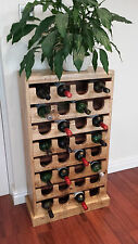 Upcycled Rustic Wine Rack,32 Bottle Floor Standing.