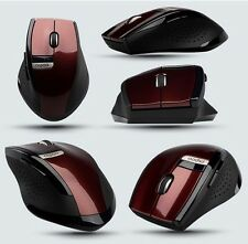 RED 2.4GHz Wireless Rapoo 3200 Ergonomic Usb Optical Mouse with Blue Light Tech