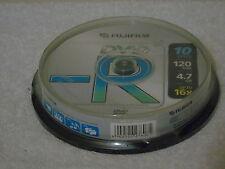10 x Fujifilm 120 min DVD - R Discs