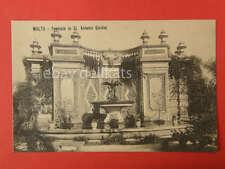 MALTA Fountain St. Antonio Garden OLD POSTCARD