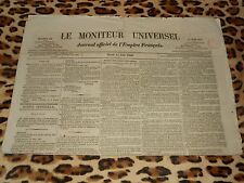 LE MONITEUR UNIVERSEL, journal officiel de l'empire français, n° 166, 15/06/1858