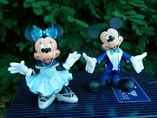 Disneyland 60th Mickey and Minnie Resin Figurines Disney Showcase Collection NEW