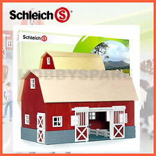 NEW SCHLEICH FARM LIFE BARN / ANIMAL HORSE STABLE 42028 MADE IN GERMANY
