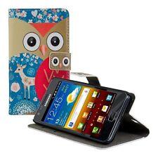 kwmobile Schutz Hülle für Samsung Galaxy S2 S2 PLUS Eule Reh Tasche Kunstleder