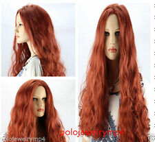 New Cosplay Fashion Long Curly Copper Red Wigs