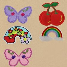 6pcs/set Embroidery Butterfly Sew Iron On Patch Badge Embroidered Dress Applique