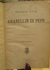 LIBRO RAGAZZI  GRANELLIN  DI PEPE  O.FAVA  TAVOLE  G. PREVIATI 1896