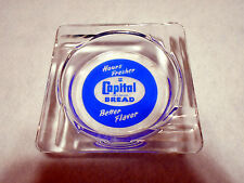 VTG Glass Advertising Ashtray Capital Bread Hours Fresher Better Flavor