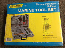 SeaChoice Deluxe Marine Boat 76 Piece Chrome Vanadium Tool KIT Set & Case 79861