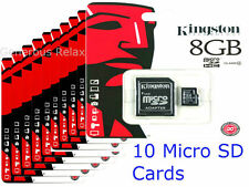 10 BRAND NEW KINGSTON 8GB MICRO SD SDHC CLASS4 FLASH MEMORY CARD WHOLESALE DEAL
