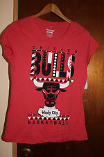 NWT Mighty Fine Hardwood Classics Chicago Bulls Women's Red T Shirt Size Medium