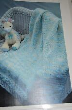 Plymouth Knitting Pattern P183  Afghan 8 hour Baby