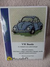 Mouseloft stitchlets CROSS STITCH KIT ~ VW BEETLE ~ 004-j01stl ~ NUOVO