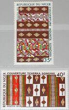 NIGER 1973 412-13 295-96 Local Textiles einheimische Webarbeiten Songhai Decke**
