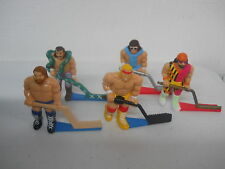 REMCO WWF 1991 SHOOT OUT HOCKEY GAME FIGURES REPLACE PLAYERS LOT OF 5 NICE RARE