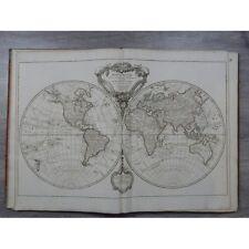 Robert de Vaugondy Atlas grand in folio cartes 76 x 56 cm complet Découverte coo