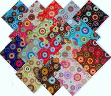 "17 10"" Quilting Fabric Layer Cake Squares  Lucky Medallions!! NEW ITEM"