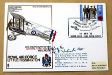 RAF LITTLE RISSINGTON  COVER SIGNED WW1 VETERAN AIR Chf Mshl SIR WILLIAM CORYTON
