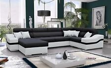 Corner Sofa Bed Barcelona Left or Right Hand Fabric or Faux Leather